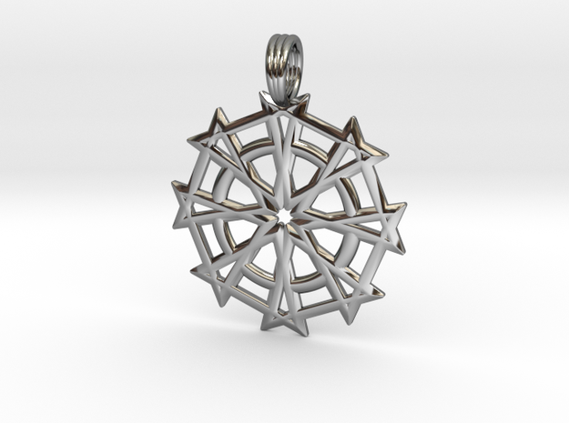 DIVINE JUSTICE in Fine Detail Polished Silver