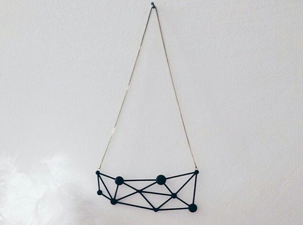 Atòmia Pendant in Black Natural Versatile Plastic