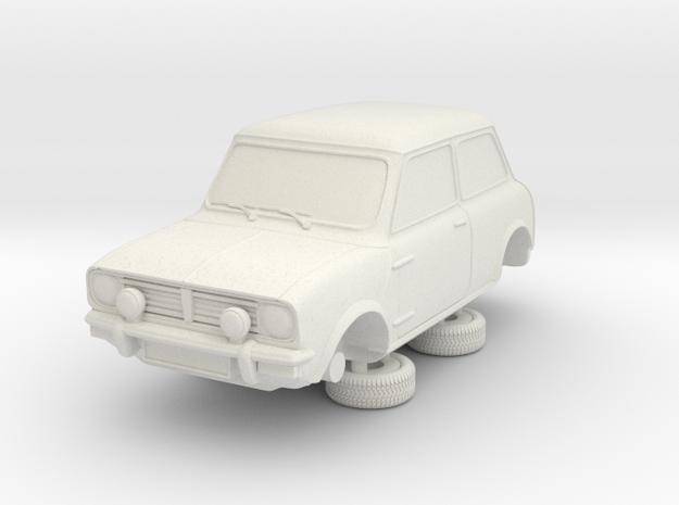 1-87 Austin 74 Saloon 1275 Gt in White Natural Versatile Plastic