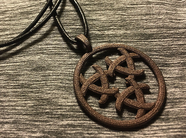 GNOSTIC RELEASE in Polished Bronzed Silver Steel