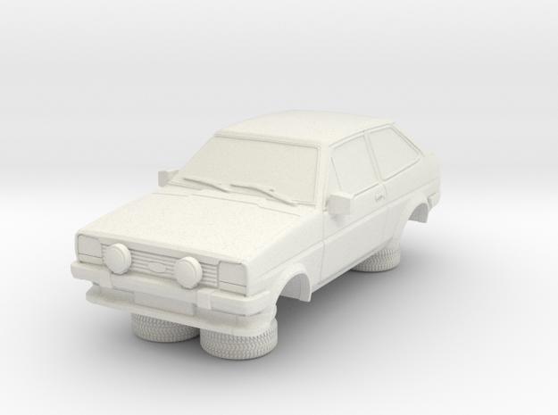 1-64 Ford Fiesta Mk1 Super Sport in White Natural Versatile Plastic