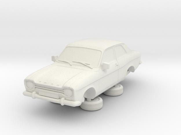 1-64 Escort Mk 1 2 Door Standard in White Strong & Flexible