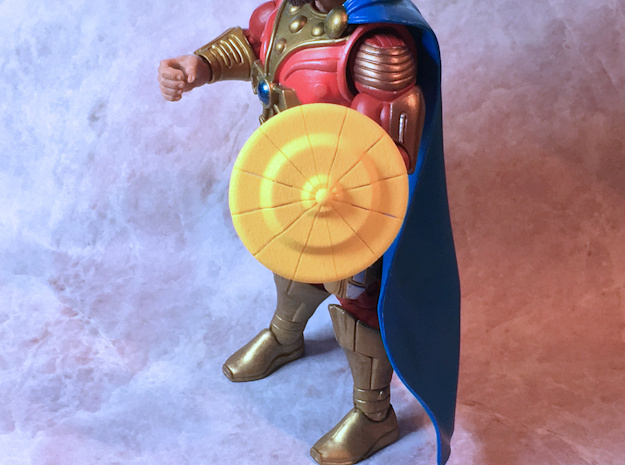 Randor's Shield (center) in Yellow Processed Versatile Plastic