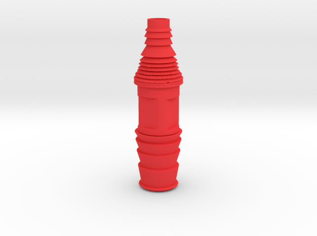 Schlauchadapter13mm in Red Processed Versatile Plastic