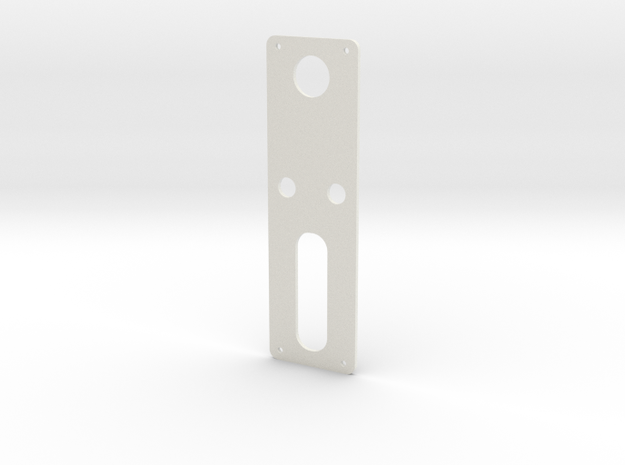 DNA60 Template - Mounting Plate Large Screen in White Natural Versatile Plastic