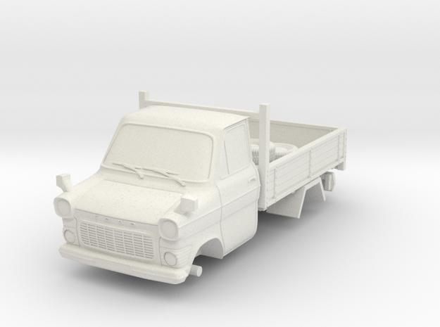 1-64 Ford Transit Mk1 Short Base Pickup Truck in White Natural Versatile Plastic