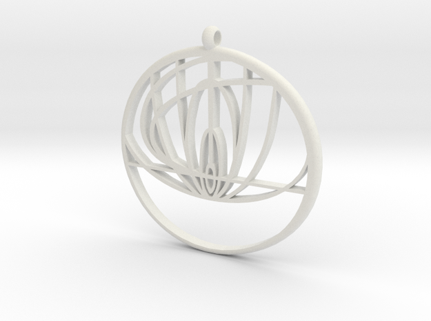 John Titor Ornament  in White Strong & Flexible