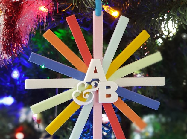A&B Color Ribbons Ornament in Full Color Sandstone