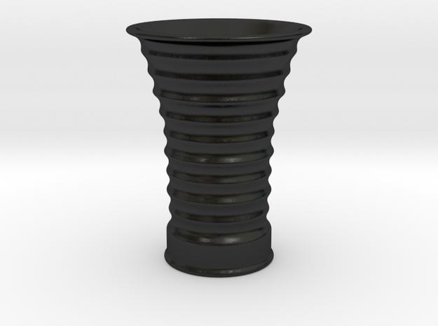 Klingon Bloodwine Cup in Matte Black Porcelain: Small