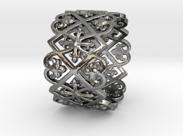 Anneau Cathédrale H14-1,4mm T8.5 Ring Size 8.5 in Polished Silver