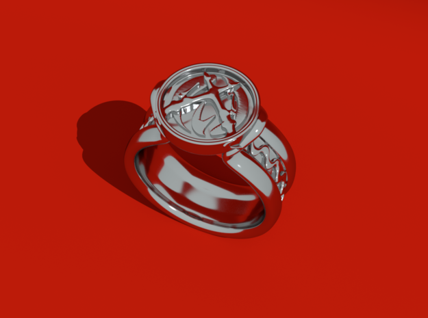 Fireman Ring (Female) in Raw Silver: Medium