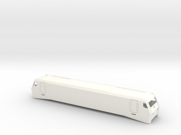 """Gehäuse """"12X"""" Spur TT 1/120, 1-120, 1:120 in White Processed Versatile Plastic"""