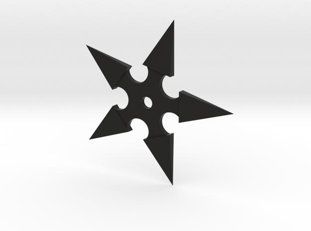 Shuriken (Ninja Star) in Black Natural Versatile Plastic