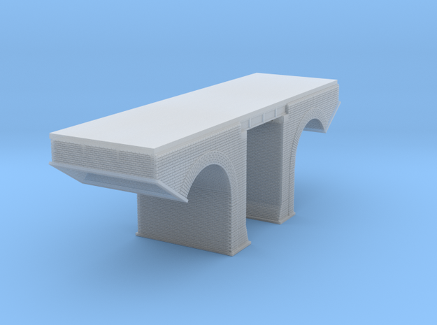 Polish Arched Railroad Bridge Z Scale in Frosted Ultra Detail