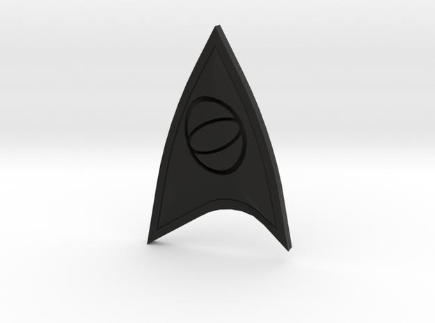 Star Trek Online Science Combadge in Black Natural Versatile Plastic