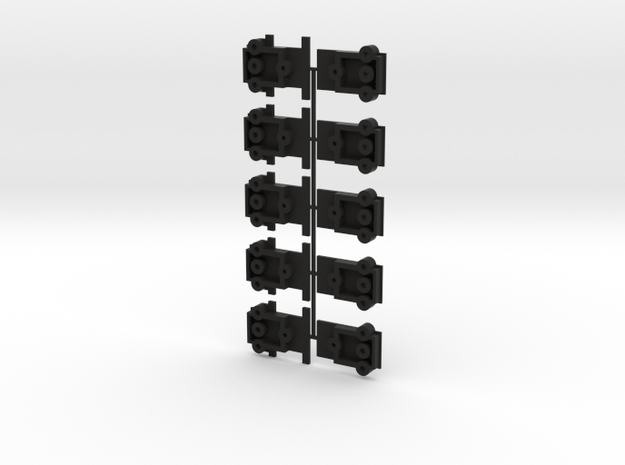 Lionel O Scale Double Door Boxcar Coupler Mount in Black Natural Versatile Plastic
