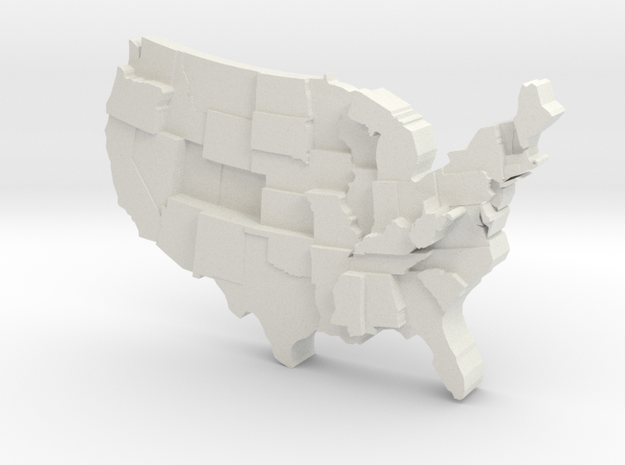USA by Diabetes in White Natural Versatile Plastic