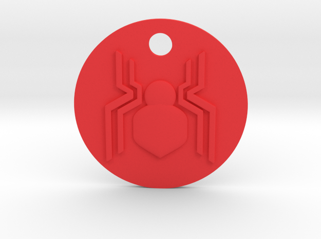 Spider-Man Homecoming 3D Keychain in Red Strong & Flexible Polished
