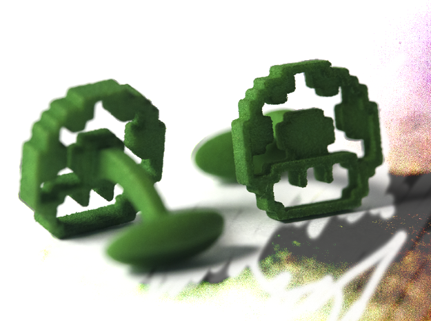 1-up (cool retro links) in Green Processed Versatile Plastic