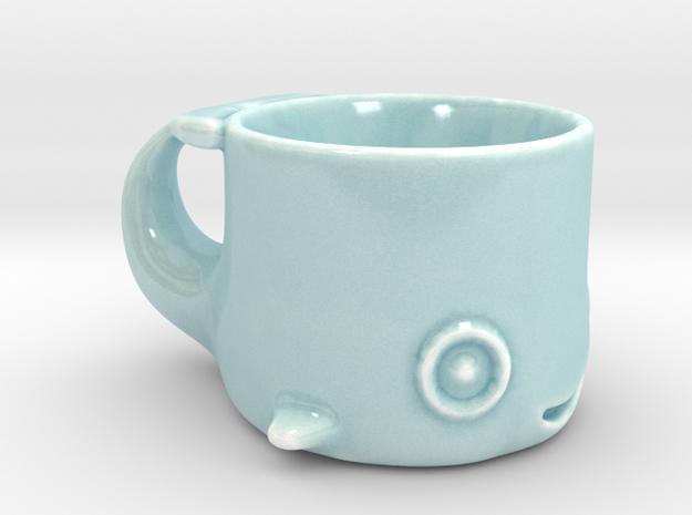 Happy Whale Single Shot in Gloss Celadon Green Porcelain