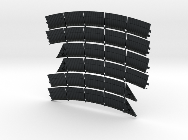DeAgo Falcon Exhaust Plates For the Ion Drive in Black Hi-Def Acrylate