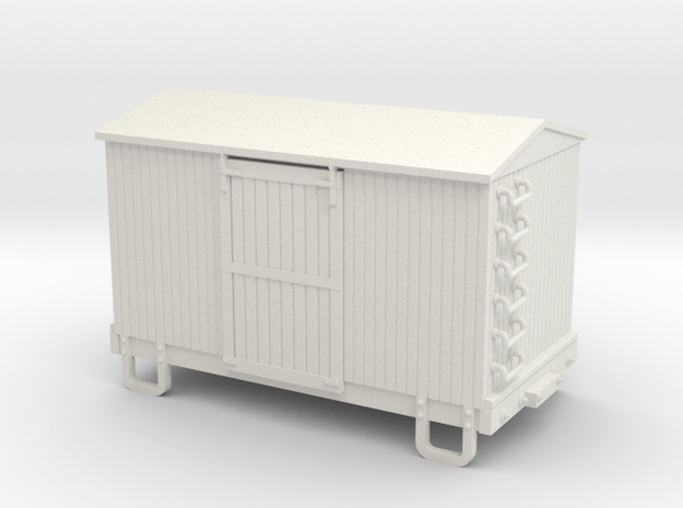 Sn3 13ft boxcar body  in White Strong & Flexible