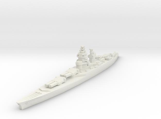 Richelieu battleship 1/1800 in White Natural Versatile Plastic