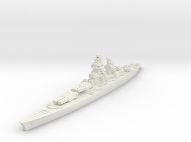Richelieu battleship (1943 post-refit) 1/2400 in White Natural Versatile Plastic