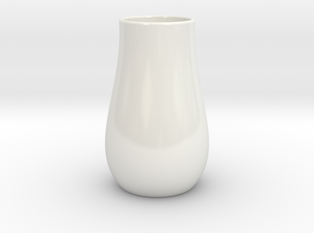 Hydrophora 3 Inch Net Pot (Style 1)  in Gloss White Porcelain