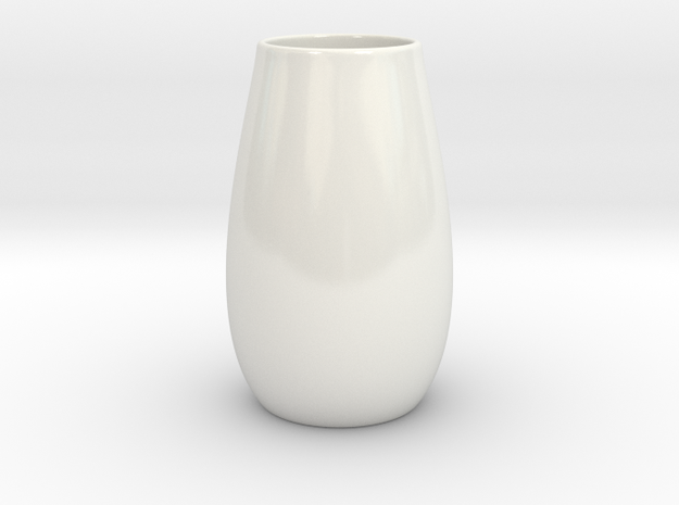 Hydrophora 3 Inch Net Pot (Style 3) in Gloss White Porcelain