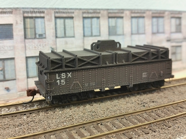 N scale 36' riveted BSX covered coil car in Smooth Fine Detail Plastic