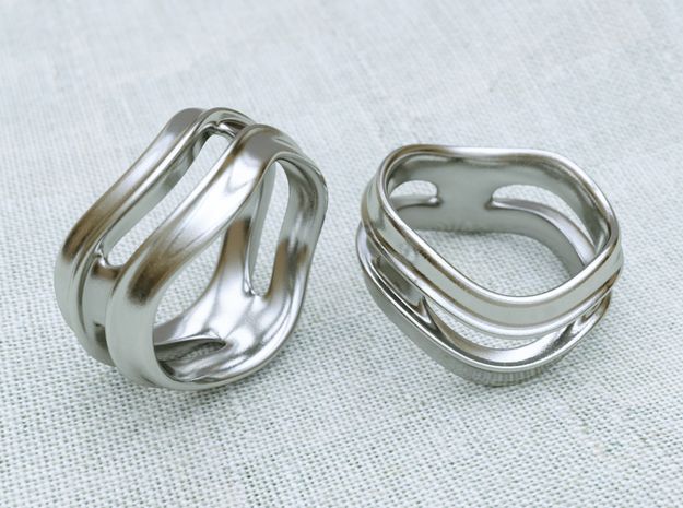 Curve Ring in Polished Silver: 8.5 / 58