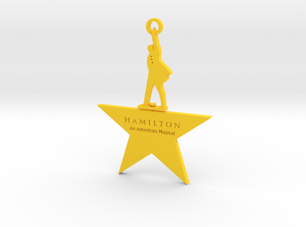 Hamilton Spinning Ornament in Yellow Processed Versatile Plastic