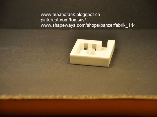 1/144 German open field fortification in White Natural Versatile Plastic