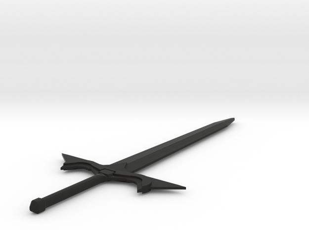 Elvish Sword in Black Natural Versatile Plastic