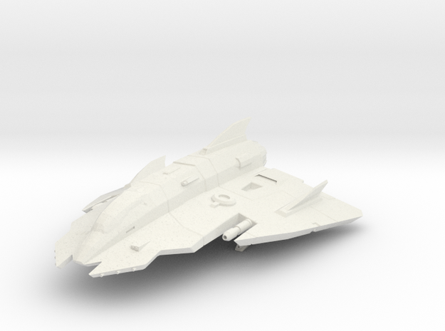 Lightweight Star Fighter in White Natural Versatile Plastic: Small