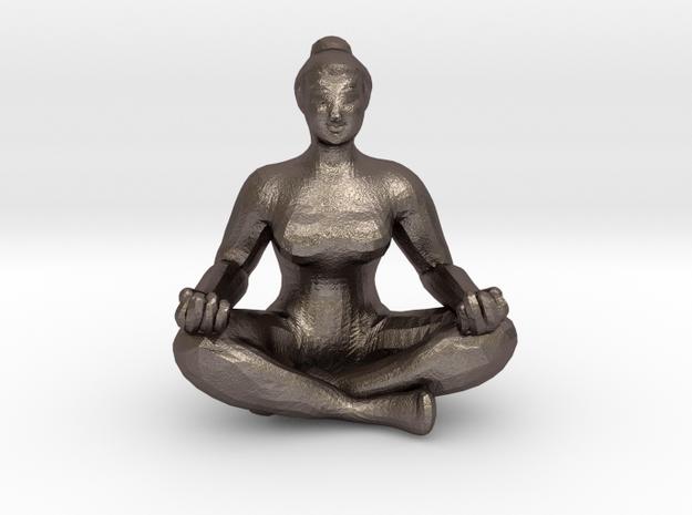 Yogi's Pendant in Polished Bronzed Silver Steel