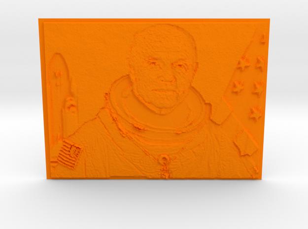 Embossed Image Of Late Astronaut/Senator John Glen in Orange Strong & Flexible Polished
