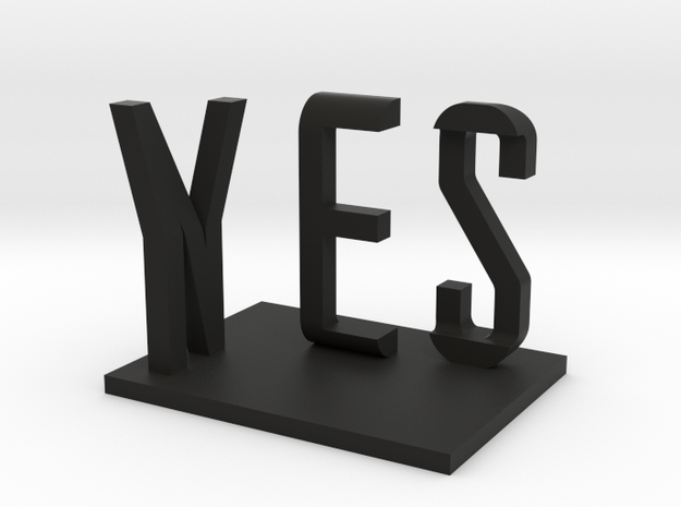 Yes/No by Markus Raetz in Black Strong & Flexible: Small