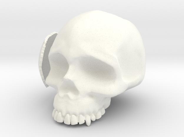 Skull Casing Raspberry Pi 2, No-ports in White Processed Versatile Plastic