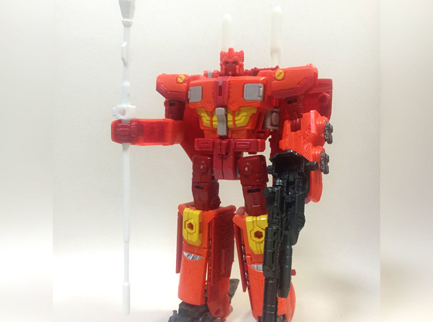 TR: Scepter of Justice for Sentinel in White Processed Versatile Plastic