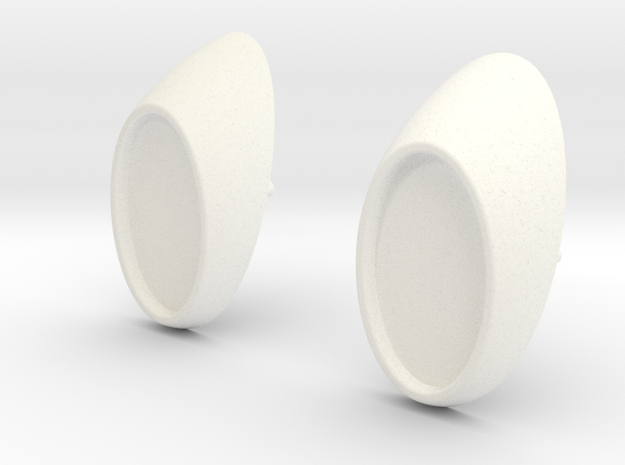 Tamiya Monster Beetle Rear Lamp Bracket in White Processed Versatile Plastic