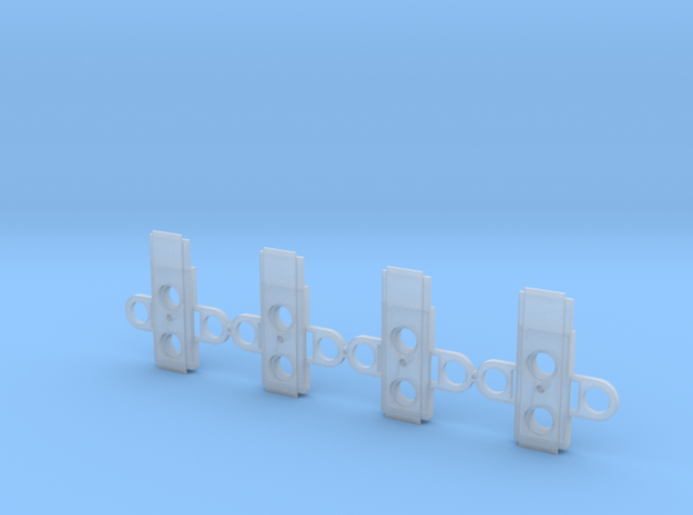 """Atlas O Scale 0.300"""" Coupler Box Alignment Cover in Smooth Fine Detail Plastic"""