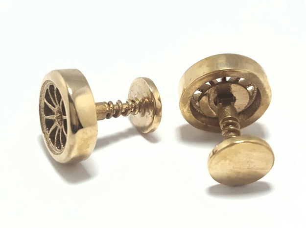 Formula 1 Wheel cufflinks in Polished Bronze