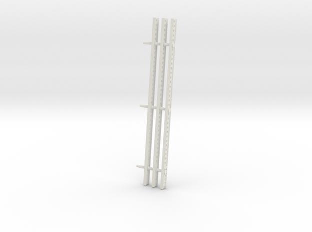 Katyusha Left Rails 1-35 in White Natural Versatile Plastic: 1:35