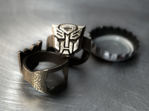 Autobot - Transformers Bottle Opener ring in Stainless Steel