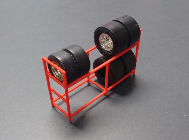 Tire Storage Rack 1/24 - 1/25 Scale Diorama