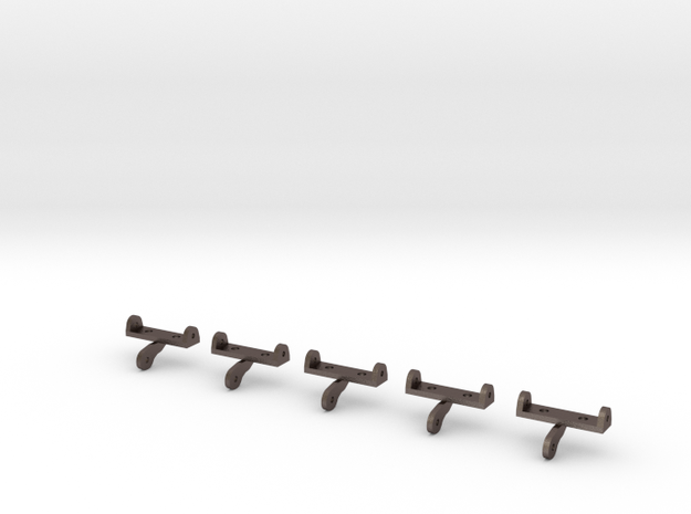 Shuttle Cargo Bay Hinge 5 Pack 1.5mm in Polished Bronzed Silver Steel