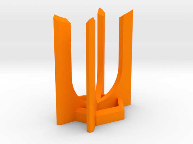 HEXA Lightsaber Display Stand in Orange Strong & Flexible Polished