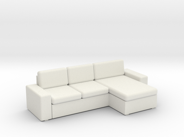 KIVIK Sectional - HO 87:1 Scale in White Natural Versatile Plastic